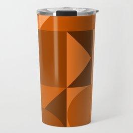 Desert Vibes Geometric Shapes in Terracotta and Burnt Orange Travel Mug