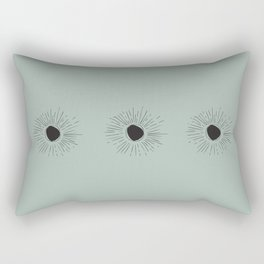 Sun Line Drawing - Black Rectangular Pillow