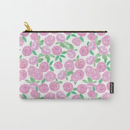 Pale pink roses . Watercolor . Carry-All Pouch