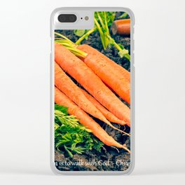 Gardening is...Walking with God Carrots Clear iPhone Case