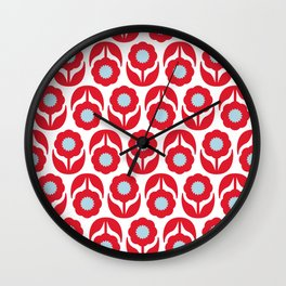 Joy collection - Red flowers Wall Clock