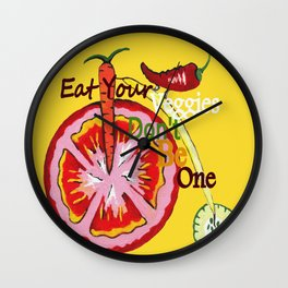 Don't Be A Vegetable Wall Clock