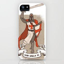 God wills it iPhone Case