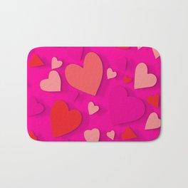 Decorative paper heart 3 Bath Mat