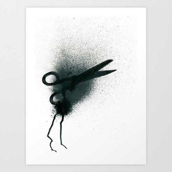 Scissor-monster Art Print