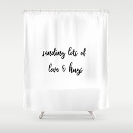 letter to Love Shower Curtain