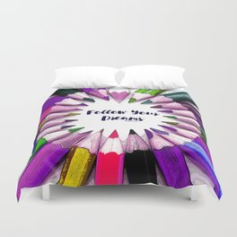 Follow Your Dreams Teen Collection by Bagaceous Duvet Cover