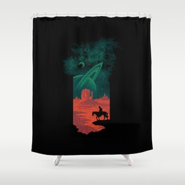 Final Frontiersman Shower Curtain