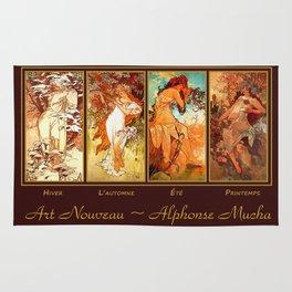 Art Nouveau Mucha Four Seasons Rug
