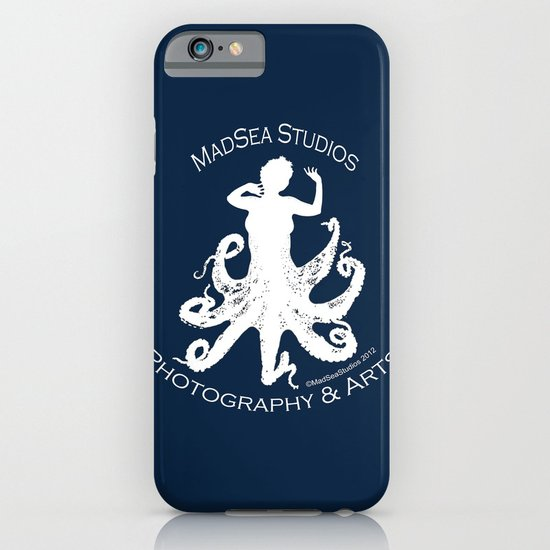 MadSea Nymph, white on blue iPhone & iPod Case