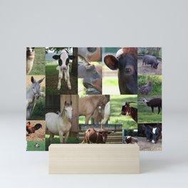 Farm Animals Galore Mini Art Print