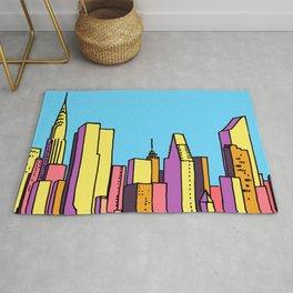 architecture art, new york city illustration, new york skyline, Rug
