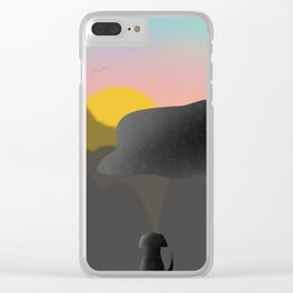 Dog and the Mountain View Clear iPhone Case
