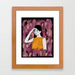 Dalila at night Framed Art Print