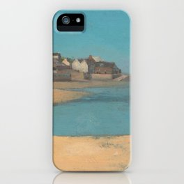 Odilon Redon - Village by the Sea in Brittany iPhone Case