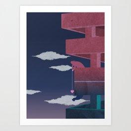 Building relationship Art Print