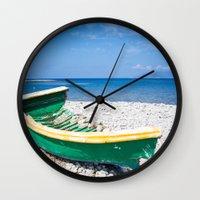 wreck it ralph Wall Clocks featuring wreck by Basic Design