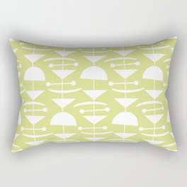 Retro Mid Century Modern Abstract Mobile 731 Chartreuse Rectangular Pillow