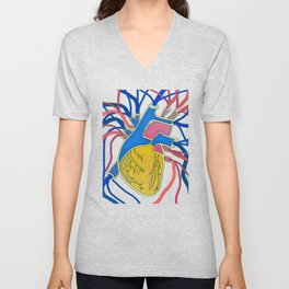 Pop Heart Unisex V-Neck