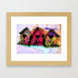 Baby Birdhouses Framed Art Print