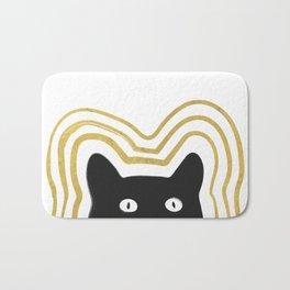 Golden Cat Vibes Bath Mat