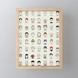 Random People Framed Mini Art Print