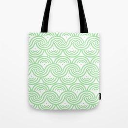 Geneveve Pattern - geometric pattern in soft light green Tote Bag