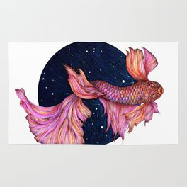 Rainbowed Waters - The Betta Fish Rug
