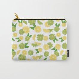 Lemon Lime Citrus Fruits Carry-All Pouch