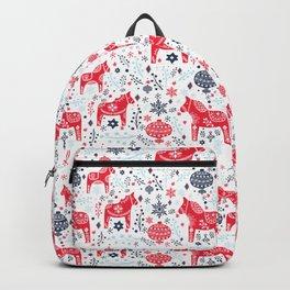Swedish Dala Horse Backpack
