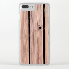 Wood Planks Wall Clear iPhone Case