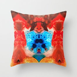 Beauty And The Beast - Abstract Art By Sharon Cummings Throw Pillow