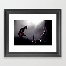 Niall Horan and Harry Styles on Stage Framed Art Print