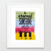 eternal sunshine of the spotless mind Framed Art Prints featuring The eternal sunshine of the spotless mind by Federica Tumminello