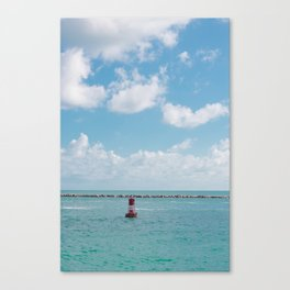 Red Bell Buoy on South Beach, Miami Canvas Print