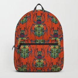 flower beetle orange Backpack