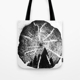 Tree Ring Tote Bag