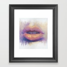 Lip Study Framed Art Print