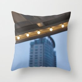 Hotel awning Throw Pillow