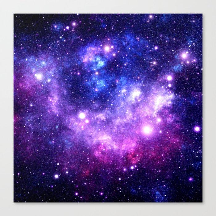 Purple Blue Galaxy Nebula Leinwanddruck
