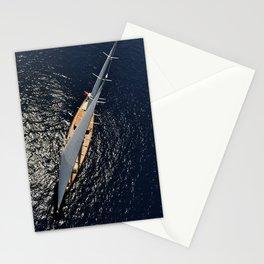 big sailing yacht Stationery Cards