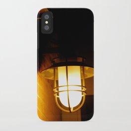 Yellow streetlight iPhone Case