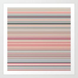 Pink Peach Pastel Stripe Design Art Print