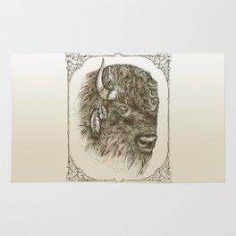 Portrait of a Buffalo Rug