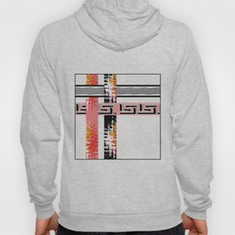 Vintage .Art . Intertwining colored bands . Hoody