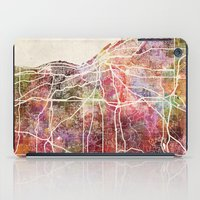cleveland iPad Cases featuring Cleveland by MapMapMaps.Watercolors