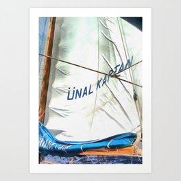 The Sails Of Unal Kaptan Art Print