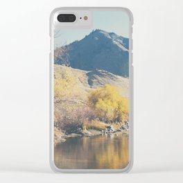 down by the river ... Clear iPhone Case