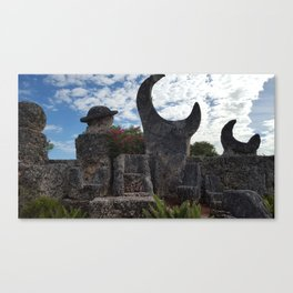 Coral Castle moon and planet Canvas Print