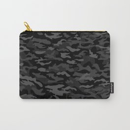NEW AGE BLACK CAMOUFLAGE IN 4 SHADES OF GRAY Carry-All Pouch